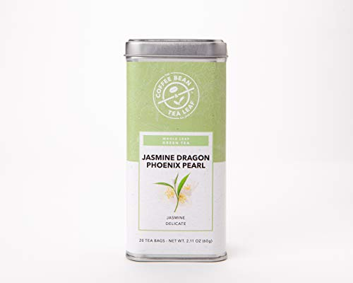 The Coffee Bean & Tea Leaf, Tea, Jasmine Dragon Phoenix Pearl, 20 Count Tin, 2.11oz (Dragon Pearl Jasmine Tea)