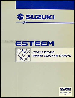 1998 2001 suzuki esteem wiring diagram manual original suzuki rh amazon com 2001 Suzuki Cars Suzuki Baleno 2001