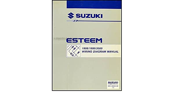 1998 2000 suzuki esteem wiring diagram manual original suzuki Suzuki Esteem Common Problems 1998 2000 suzuki esteem wiring diagram manual original suzuki amazon com books