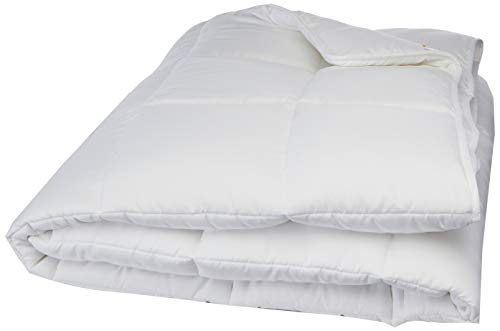 LINENSPA All-Season White Down Alternative Quilted Comforter - Corner Duvet Tabs - Hypoallergenic - Plush Microfiber Fill - Machine Washable - Duvet Insert or Stand-Alone Comforter - King (Best Washer For King Size Comforter)