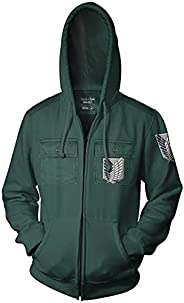 Ripple Junction Attack on Titan Survey Corp Chest Pocket Adult Unisex Full Zip Hoodie