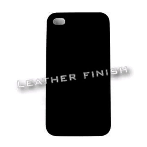 Honey Black Leather Finish (Cell Armor Hybrid Fit-On Case for iPhone 4/4S - Retail Packaging - Honey Black, Leather)