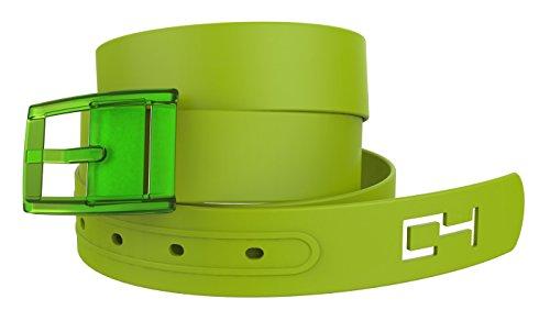C4 Classic Belt: Green Strap with Green Buckle - Fashion Belt - Waist Belt
