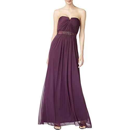 Adrianna Papell Womens Strapless Jeweled Formal Dress Purple (Purple Jeweled Dress)