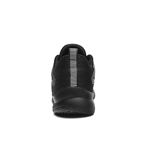 Bigcount Mens Fashion Respirant Sneakers Maille Casual Sportif Léger Tricot Extérieur Chaussures De Course Noir