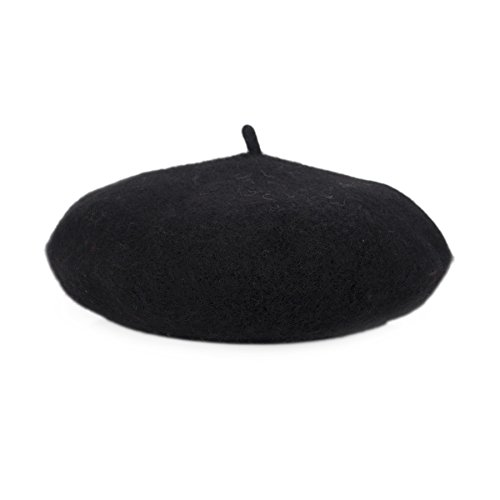 Opromo Classic Kids' Wool French Warm Beret Hat, 9.5