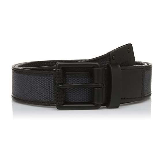 "Royal Enfield Black Treated Leather Belt Length 34"" (RLCBEI000048)"