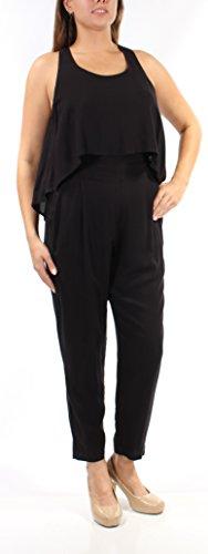 Chelsea Sky Womens Popover Sleeveless Jumpsuit Black - Chelsea Jumpsuit