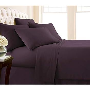 Southshore Fine Living, Inc. Vilano Springs - Premium Collection 6-Piece, 21 Inch Extra-Deep Pocket Sheet Sets, Purple, King