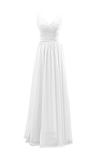 Avril Dress Sweet A Line Straps V Neck Chiffon Bridesmaid...