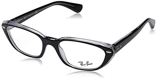Ray-Ban Women's RX5242 Eyeglasses Top Black On Transparent 53mm
