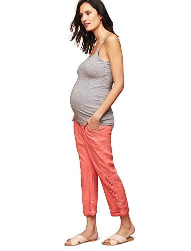 (Motherhood Secret Fit Belly Linen Blend Straight Leg Maternity Pants)