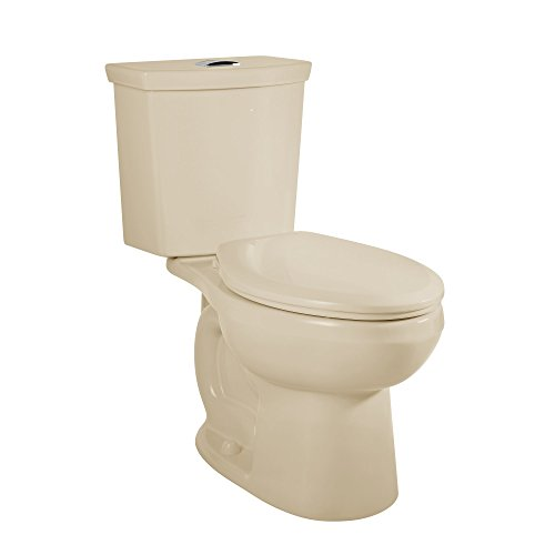 American Standard 2887518.021 H2Option Siphonic Dual Flush Normal Height Elongated Toilet with Liner, Bone, 2-Piece ()