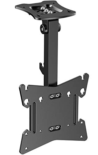 PERLESMITH Adjustable Ceiling TV Wall Mount – Swivel Tilting Bracket fits 17-39 Inch LCD LED Plasma TVs, Monitor, Flat Panel Screen Display – Full Motion Roof Mount Holds up 44lbs with VESA 200 x 200