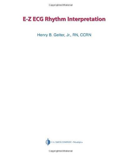 E-Z ECG Rhythm Interpretation by Brand: F A Davis