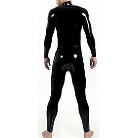- 31aUCR3oeEL - VsvoLatex Men's Latex Rubber Catsuit Unitard Front Zipper