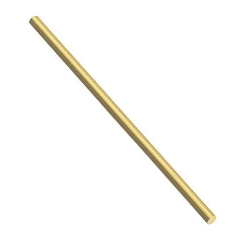 Sutemribor Brass Solid Round Rod Lathe Bar Stock, 1/2 inch in Diameter 12 inch in -