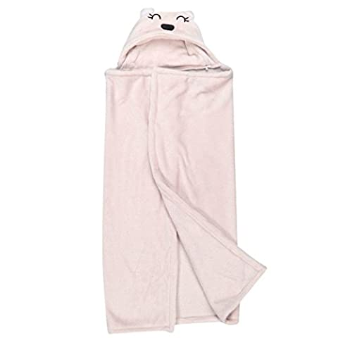 Lovely Soft Baby Blanket Towels Animal Shape Hooded Bath Towel Bathrobe Clothes (0~2 years, Pink) (Animal Baby Blankets For Girls)