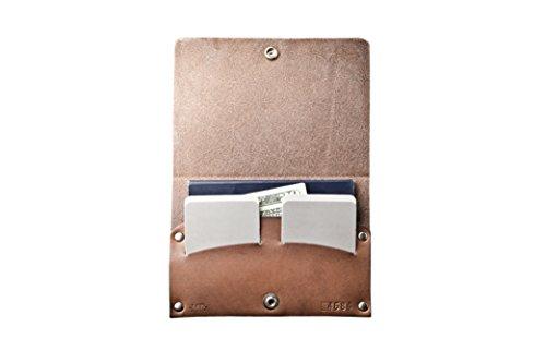 Passport Pasaporte Color Occidental Mr Lentz Botón Brown Señor Del Case De Marrón De Caso Personalized Western Cuero Con Personalizado Leather Lentz With Cierre Closure De Snap Igfg4A