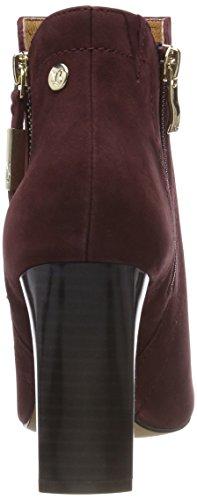 Caprice 25304, Botines Femme Rouge (Bordeaux Nubuc 545)