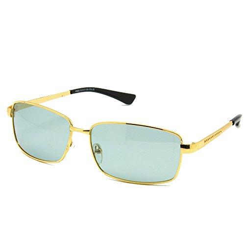 Transition Glasses Photochromic Sunglasses Metal Frame UV400 Classic Aviator Vintage(Model 2,Golden - Sunglasses Transitions