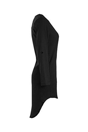 Largas camisas Tops blusa de Gasa de Yacun woment Black