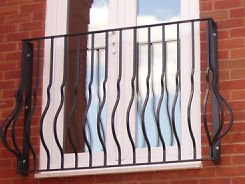 Langley Bowed Style Juliet Balcony Railing Balustrade To Suit