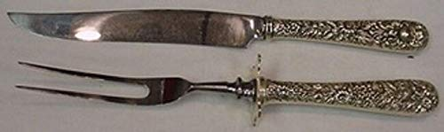 (Repousse by Kirk Sterling Silver Steak Carving Set 10 3/4