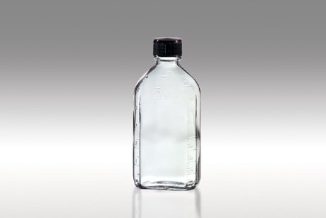 Prescription Oval Clear Bottle 6oz Glass Easy Screw Top for Medical, Lab, Oil Samples and More