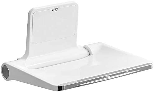 SXRL duschhocker stabil kunststof, duschstuhl klappbar wandmontage, duschhilfe für senioren Shower Seat Unabhängigkeit & Stabilität, Behinderte & Badezimmer-Sicherheitshilfe(Weiß), White