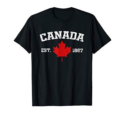 Vintage Canada Est. 1867 Maple Leaf Gift T-Shirt (Canada Rugby Shirt)