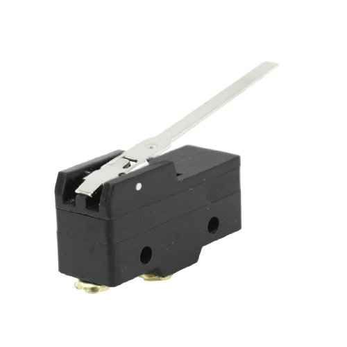 UPC 700955312219, Uxcell Z-15GW-B 15 Amp Micro Limit Switch Long Lever Arm SPDT Snap Action CNC