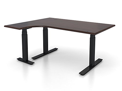Adjustable Height 48'' x 72'' L-Shaped Ergonomic Executive Office Desk by Stratis Industries