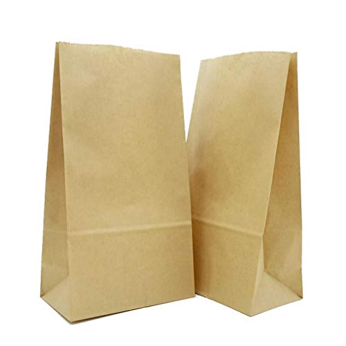 Brown Paper Lunch Bags - Thick, Strong, Premium Kraft Paper Sacks - Size 4 7/8