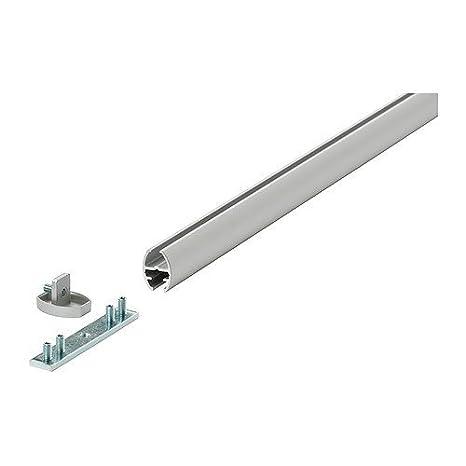 IKEA KVARTAL Serie Gardinenschiene 1-3-läufig Laufleisten Zubehör Alu oder Weiß