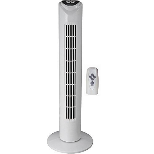 syntrox Germany tvr-29w Tower Fan Tower Ventilator with Remote Control, 7,5 Hours Timer and Oscillation Pedestal Fan Tower Fan windmachine Fan Fan Blower Air Cooler