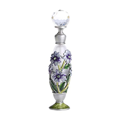 YUFENG Vintage Flower Pattern Restoring Ancient Antique Perfume Bottles Empty Refillable (Purple) - Ancient Perfume Bottles