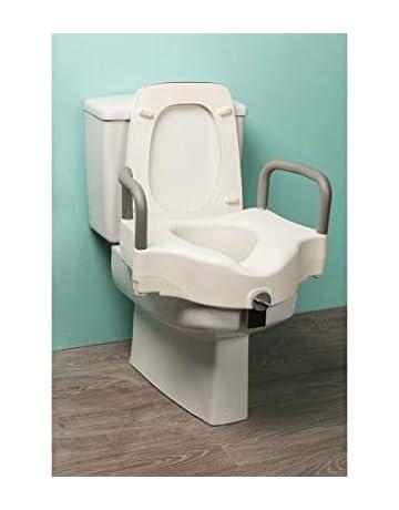 Elevador de Inodoro con Reposabrazos   Elevador WC Cómodo con Asas   Altura 12 cm