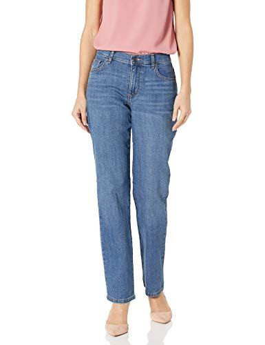 LEE Women#039s Relaxed Fit Straight Leg Jean Meridian 8 Short