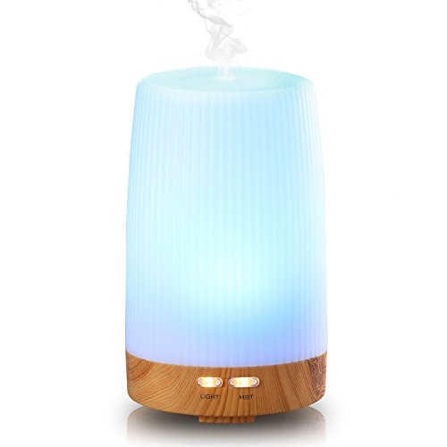 Essential-Oil-Diffuser-Euph-100ml-Wood-Grain-Cool-Mist-Humidifer-Ultrasonic-Aromatherapy-Oil-Diffuser-with-7-Color-LED-Lights-Changing-for-Home-Office-Baby-Yoga-SPA