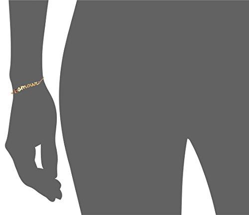 Wouters & Hendrix Bracelet Acier Inoxydable Grenat Femme