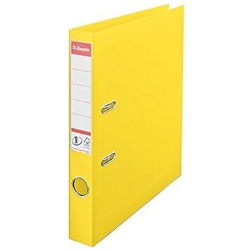 Esselte, Archivador de Palanca, PP, A4, 5 cm lomo, Amarillo Vivida, Nº. 1, 624074: Amazon.es: Oficina y papelería