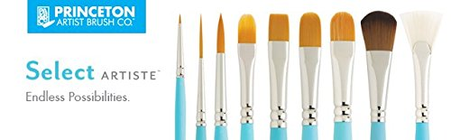 """Princeton Artist Brush Select Wave Synthetic Brush Oval Mop 1"""" Width"""