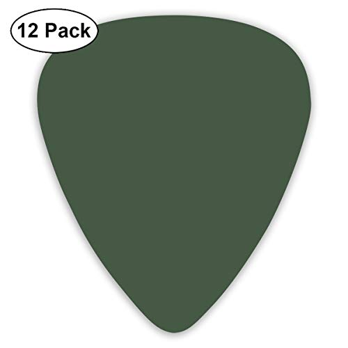 - MOANDJI Gray Asparagus Solid Color Guitar Picks, 12 Pack Unique Designs Stylish Colorful Guitar Picks for Bass, Electric and Acoustic Guitars