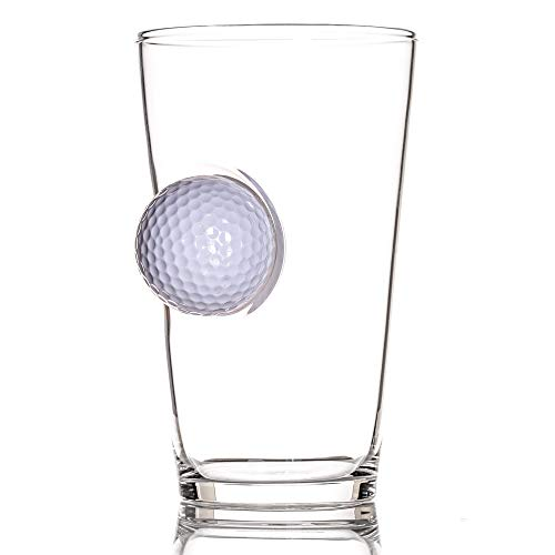 The Original Pint Glass Embedded with a Real Golf -