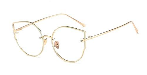 de Gold marea frame sol moda sol de de light LSHGYJ Mails Ojos sol gafas gafas gafas mirror metal de de gato GLSYJ qwUZHUSxY