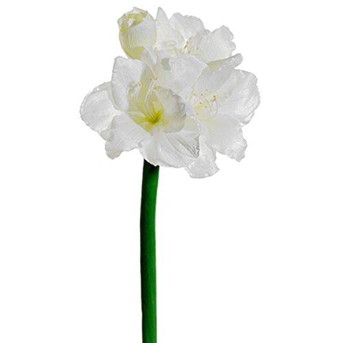 28.5'' Silk Amaryllis Flower Spray -White (pack of 6) by SilksAreForever