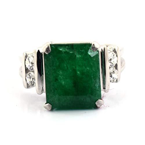 skyjewels 6-7cts Natural Lab Certified Emerald Gemstone Birthstone -