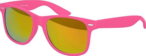 Lunettes couleurs mat Orange De haute verspiegelt Gomme Charnière qualité choix Lunettes Balinco Modèles Unisexe Soleil plusieurs ressort Rétro Rot à au 101 Vintage Nerd Pink qTtnY