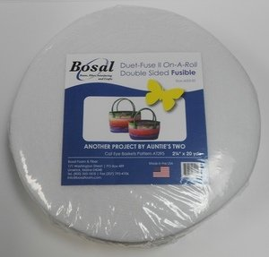 Duet Fuse II on a Roll - Double Sided Fusible - Bosal - 2.25'' x 20yd Roll by Bosal